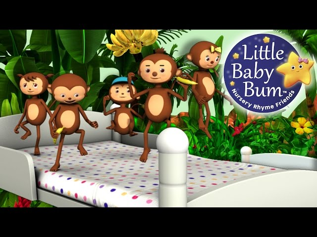Five Little Monkeys Jumping On The Bed Part 1 In Hd From Littlebabybum Video Redfox London